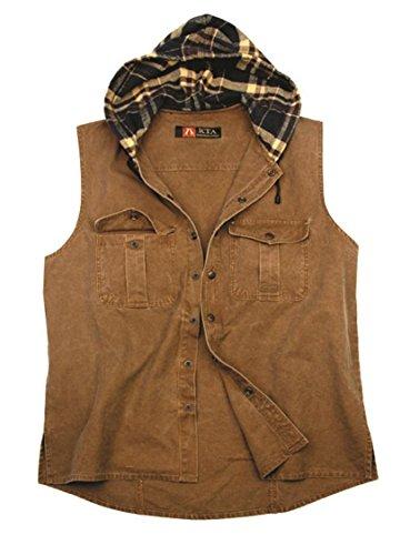 La chemise Kakadu Traders Roston est une chemise à capuche sans manches, 8MS16 Bleu