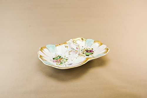 Price comparison product image Opulent Antique Porcelain KPM Serving BOWL Gift Dining Traditional Large Gold Retro Unique German Early 1900s LS