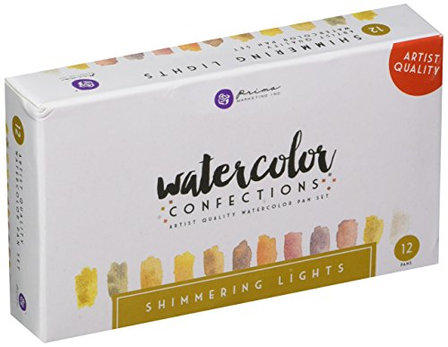 Prima Marketing Watercolor Confections Watercolor Pans 12/Pk-Shimmering Lights