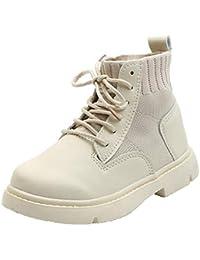 2020 otoño e Invierno Botas para niños niñas niños Botas Martin Casual con Cordones Zapatos de Tobillo cálidos Zapatillas de Moda para niños Botas de Nieve para bebés