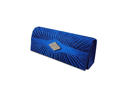 XPGG Damen Party Clutch Hardcase Abendtasche Synthetik 009 Blau