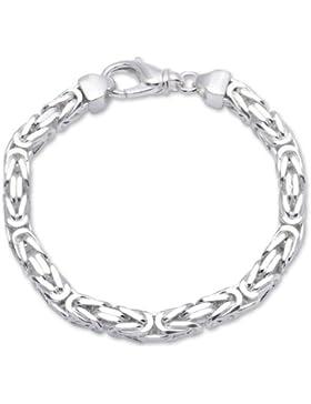 925 Silberarmband: Königsarmband Silber 7,5mm breit - Länge frei wählbar KA0075