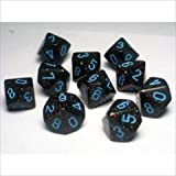 Chessex Dice Sets: Blue Stars Speckled - Ten Sided Die d10 Set (10)