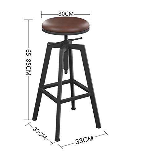 SEEKSUNG Stuhl, Barhocker Fuß Hocker Hoher Hocker Hohe Eisen High Solid Zähler Hocker Rund Rotary Hebe Moderne Hocker -A1- -