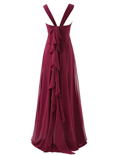 Dresstells Damen Bodenlang Chiffon Promi-Kleider Ärmellose Abendkleider Mintgrün