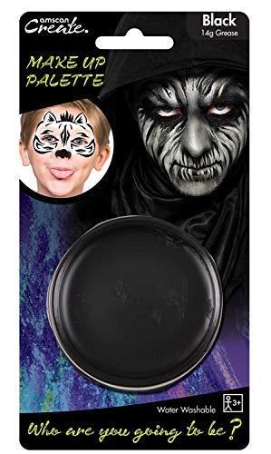 Fancy Me Mann Damen Kinder schwarz Gesicht Make Up Skelett Monster Zombie Halloween (Zombie Skelett Make Up)
