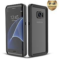 Coque Samsung Galaxy S7 Edge Etanche HAPPON [Imperméable IP68 Certifiée][Dirtproof][Antichoc][Antipoussière] Etui Protecteur Housse Splash-proof Waterproof Case Cover Tasche pour Samsung Galaxy S7 Edge (Noir)