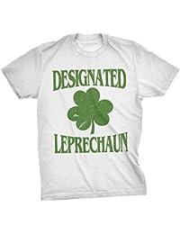 Crazy Dog Tshirts Mens Designated Leprechaun Funny ST. Patrick's Day Clover T Shirt
