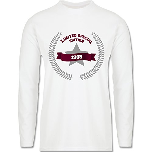 Geburtstag - 1985 Limited Special Edition - Longsleeve / langärmeliges T-Shirt für Herren Weiß