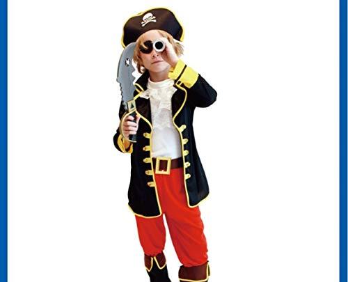Mädchen Piraten Kostüm Karibik - SBL Cosplay Karibik Piraten Kostüm Halloween Kinderkostüm Jack Kapitän Party Performance Kostüm,Jack Pirat,S
