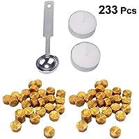 Artibetter 233 Pcs Sellado de Perlas de Cera Kit de Palos de Cera para Sello de Sello de Cera