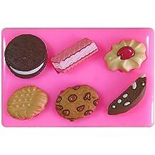 Galletas de Chocolate de Oblea Jammie Dodger Oreo Molde de silicona para la torta de Decoración