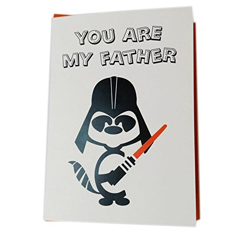 �Father 's Day, Star Wars Stil, Witz und Funny Poetic Vers Grußkarte, 12,7 x 17,8 cm ()