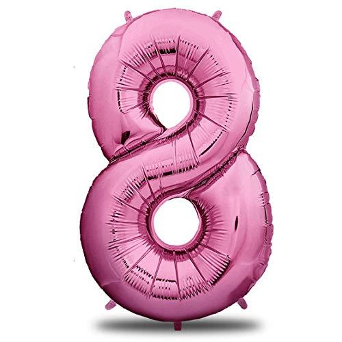 n 8 Pink | Riesen Zahlen-Luftballon | 40