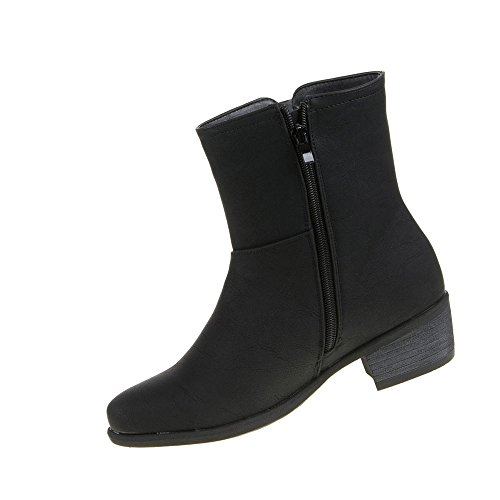 Damen Schuhe Stiefeletten Gefütterte Boots Schwarz