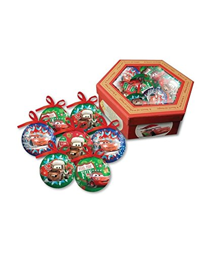 Set di 7 palle di natale disney cars multicolor