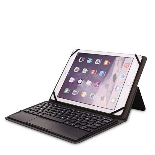 MISS&YG Ipad 9 Zoll Bis 10 Zoll Tastatur Gehäuse Abnehmbare Leise Tastatur Slim Leder Folio Cover