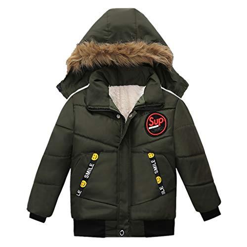 Baby-Jungen Jacke Dasongff Infant Toddler Junge Winter Daunenjacke Kapuzenjacke Outwear Mantel Kinder Pelzkragen mit Reißverschluss Coat Warme Kleidung
