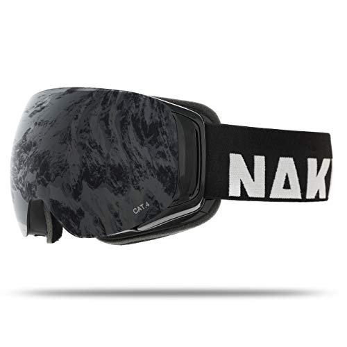 NAKED Optics Force EVO Black (Black Lens), inkl. Schlechtwetterglas -