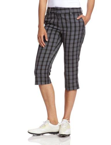 Calvin Klein golf Ladies Cropped Check Trouser White/Blue - Damen 3/4 Hose weiß/blau schwa Preisvergleich