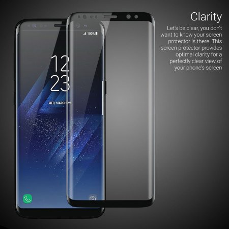 Giant Armour 3D Full Coverage Edge to Edge Curved Tempered Glass HD Screen Protector for Samsung Galaxy S8