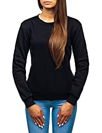 BOLF Damen Sweatshirt Rundhalsausschnitt Sweater Sportlicher Stil A1A