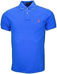 Polo 2 boutons Ralph Lauren bleu pour homme