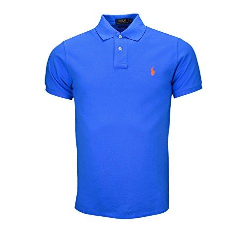 polo-2-boutons-ralph-lauren-bleu-pour-homme
