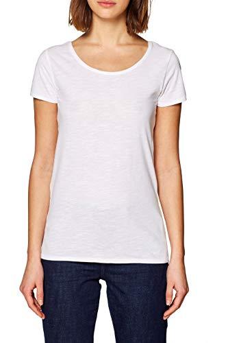edc by ESPRIT Damen 128CC1K009 T-Shirt Weiß (White 100) X-Small (Herstellergröße: XS)
