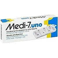 MEDI 7 uno Medikamentendosierer für 7 Tage weiß 1 St preisvergleich bei billige-tabletten.eu