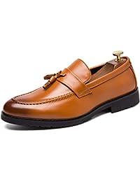 Scarpe da Uomo Business Oxford Casual Classic Tassel Low Top PU Scarpe  Formali in Pelle ! aa53bd0005c