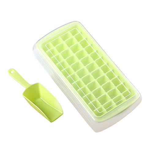Boodtag 44 Fach Eiswürfelformen Eiswürfelschalen Mit Deckel und Schaufel Eiswürfelbereiter für Wein, Wasser, Babynahrung und DIY Cool Drink
