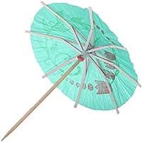 Cocktail Parasols Umbrellas ,Cheap4uk 50 Mixed Paper Cocktail Umbrellas Parasol for Party Tropical Drinks Accessories