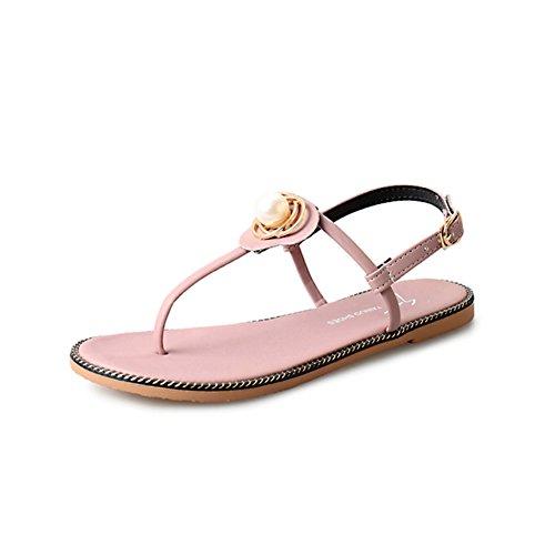 sweet fashion Lady Sandals/Sandales plates d'été/Extérieures anti-dérapante polyvalents tongs/Chaussures étudiant A