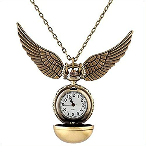 Reloj de bolsillo de Quidditch, ideal para llevar en un collar, regalo