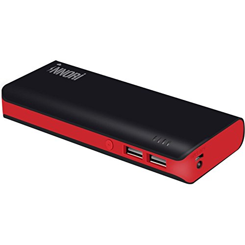 BellKen 15000mAh 2 Output Portable Power Bank Caricabatteria Portatile universali Battery Charger Pack Batteria Esterna Esterna LED Torcia Elettrica per iPhone , iPad, iPod, Samsung, Smart Phone, Tablet PCs (Nero)