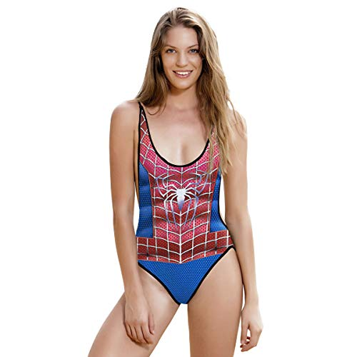 QQWE Frauen Spiderman Cosplay Kostüm Kostüm Kleidung Frauen Sexy Bademode Monokini Badeanzug Bikinis Strand Badeanzug,A-M
