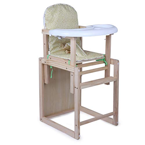 Zest 4 Toyz 2 In 1 Wooden Baby High Chair Feeding Chair With Carrying Capacity 25 Kg- Blue