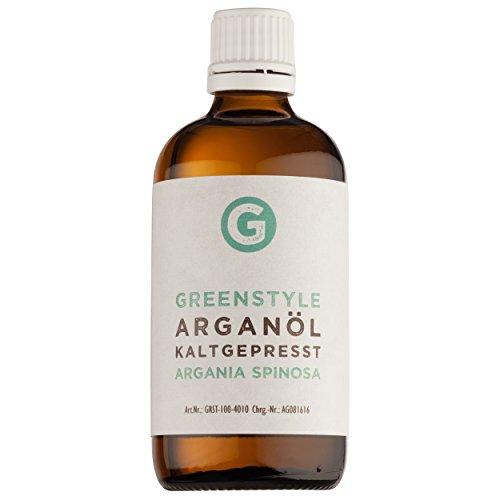 Arganöl 100ml - reines kaltgepresstes Öl für Haare, Haut und Gesicht von greenstyle