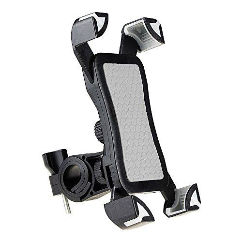 Fayomir Fahrrad Handyhalter Anti-Rutsch - Universal Verstellbar Handyhalter Wiege Mit Schlossknopf Für Smartphones Von 4 bis 7 Zoll (Grau)