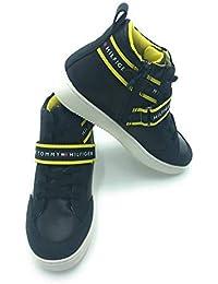 Tommy Hilfiger - Zapatillas de Cuero para niño Negro Negro
