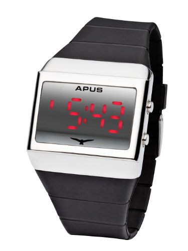 APUS Delta Silver-Red LED Watch für Ihn Design-Highlight