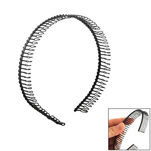 PIXNOR Kamm-Haarreif aus Metall, schwarz