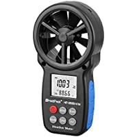 HoldPeak 866B-WM Digital Anemometer Handheld Wind Speed Meter for Measuring Wind Speed, Temperature and Wind Chill with Backlight and Max/Min
