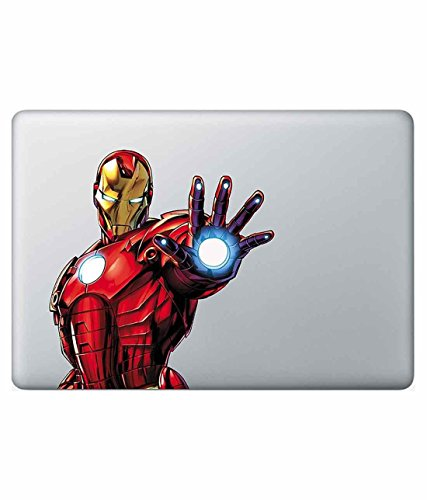 "GADGETS WRAP Apple Macbook Air 11"" 12"" 13"" 15"" Pro non retina touch bar Decal Skin - ICONIC IRONMAN"