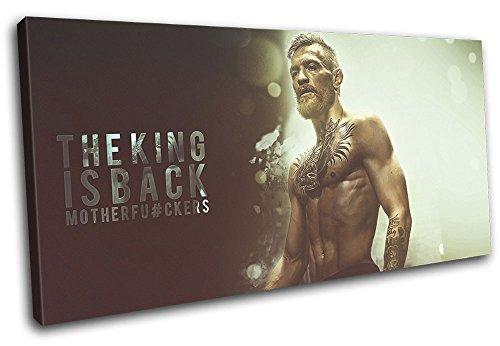 Bold Bloc Design - Conor McGregor UFC MMA Grunge Sports 80x40cm SINGLE Leinwand Kunstdruck Box gerahmte Bild Wand hangen - handgefertigt In Grossbritannien - gerahmt und bereit zum Aufhangen - Canvas Art Print (Zeitgenössisch Bilder Zeitgenössische Single)