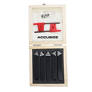 Accusize - 5 Pcs/Set 1/2'' Indexable Carbide Insert Turning Tool Bits, 2380-5082