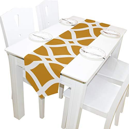 etrische Spalier Kommode Schal Stoffbezug Tischläufer Tischdecke Tischset Küche Esszimmer Wohnzimmer Home Hochzeitsbankett Dekor Indoor 13x90 Zoll ()