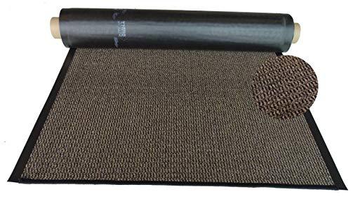 Mertex Schmutzfangläufer Meterware 90 cm braun-schwarz meliert (90 x 300 cm, Schnittkante gekettelt)