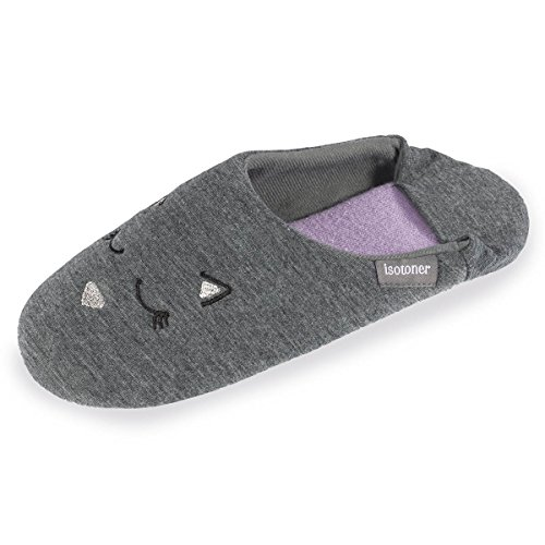 Isotoner, Pantofole donna Grigio